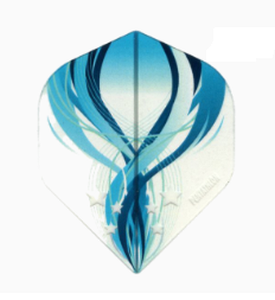 Pentathlon blue clear standard shape dart flights 5 sets