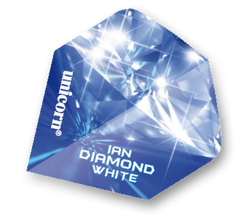 Unicorn player Ian 'Diamond' White blue standard shape dart flights 5 sets