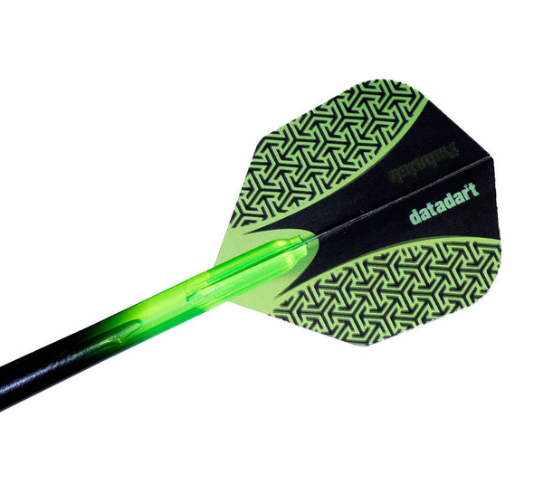 Datadart 15zro green standard shape dart flights 5 sets