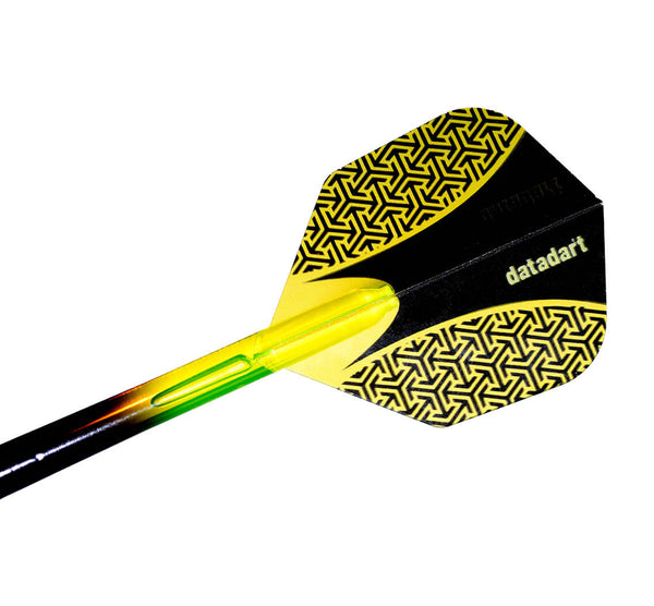 Datadart 15zro yellow standard shape dart flights 5 sets