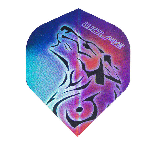 Datadart player pf 8 Martin Adams tri colour metallic wolf standard shape dart flights 5 sets