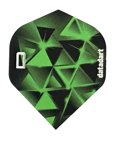 Datadart CMF 29 spectral green standard shape dart flights 5 sets