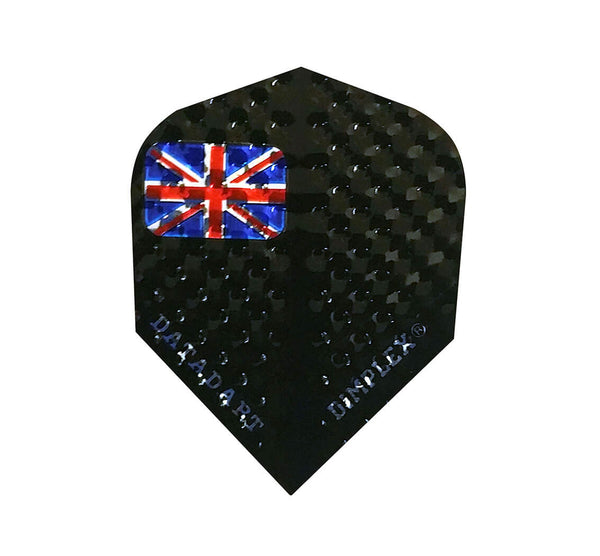 Datadart Dimplex 1 union jack standard shape dart flights 5 sets