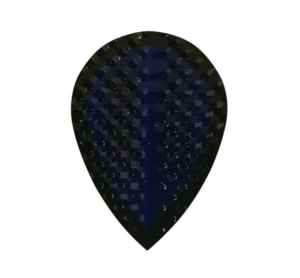 Datadart Dimplex 10 blue pear shape dart flights 5 sets