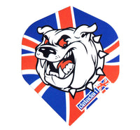 Datadart CMF 6 British Bulldog standard shape dart flights 5 sets