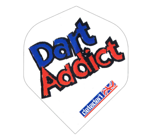 Datadart CMF 11 dart addict white standard shape dart flights 5 sets
