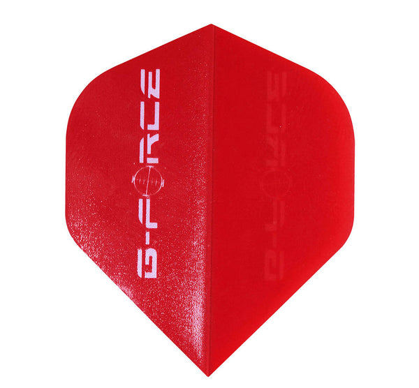 Datadart G-force red standard shape dart flights 5 sets