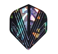 Datadart CMF 16 black hologram standard shape dart flights 5 sets