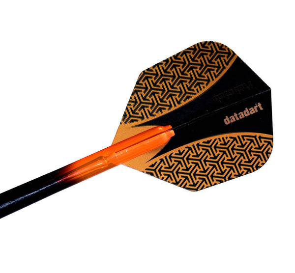Datadart 15zro orange standard shape dart flights 5 sets