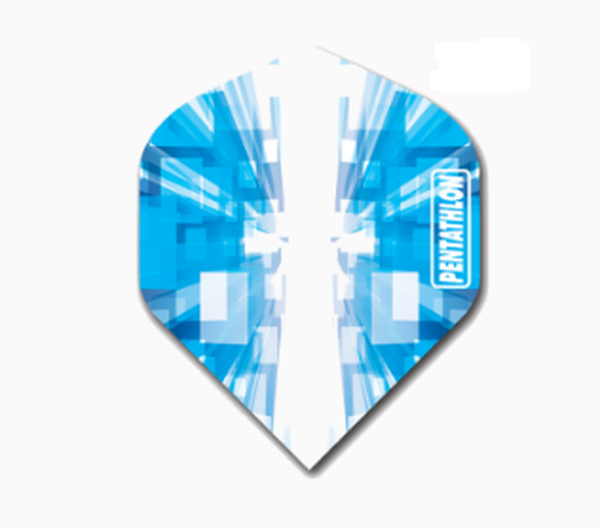 Pentathlon blue pixel standard shape dart flights 5 sets