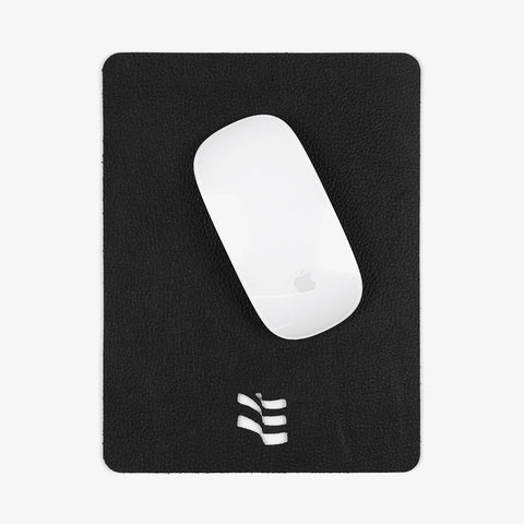 Black Leather Flag Mouse Pad - Bad Goods