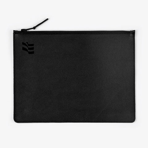 Black Leather Flag Clutch - Bad Goods