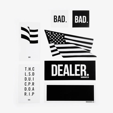 Assorted Bad Stickers | 7-Pack - Bad Goods