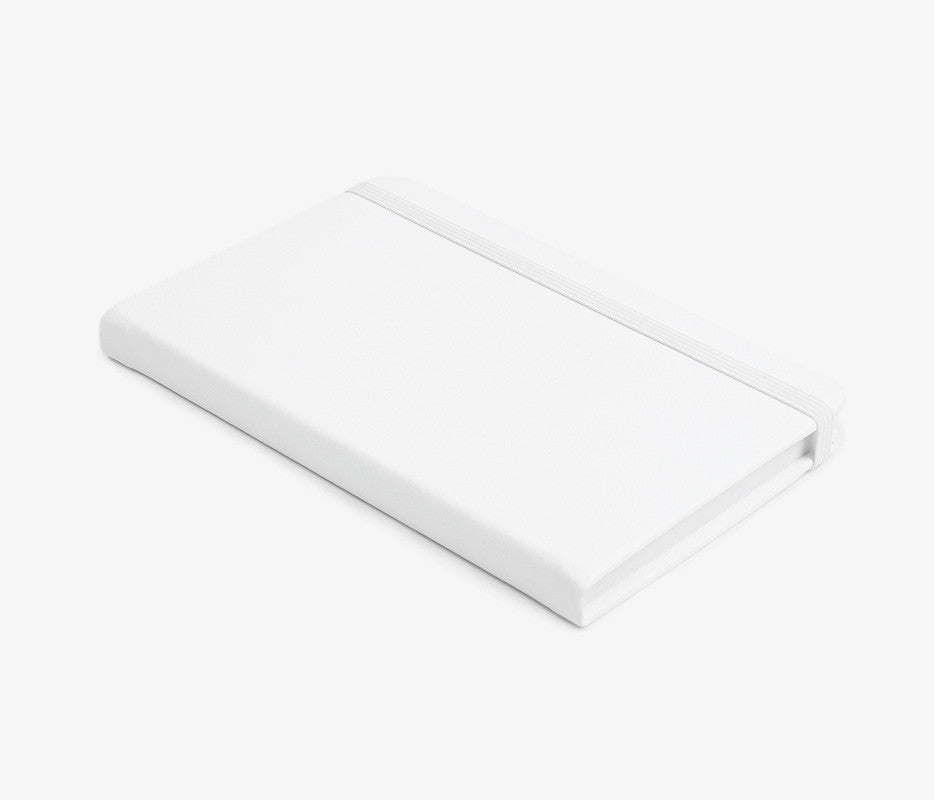White Classic Leather Notebook - Bad Goods