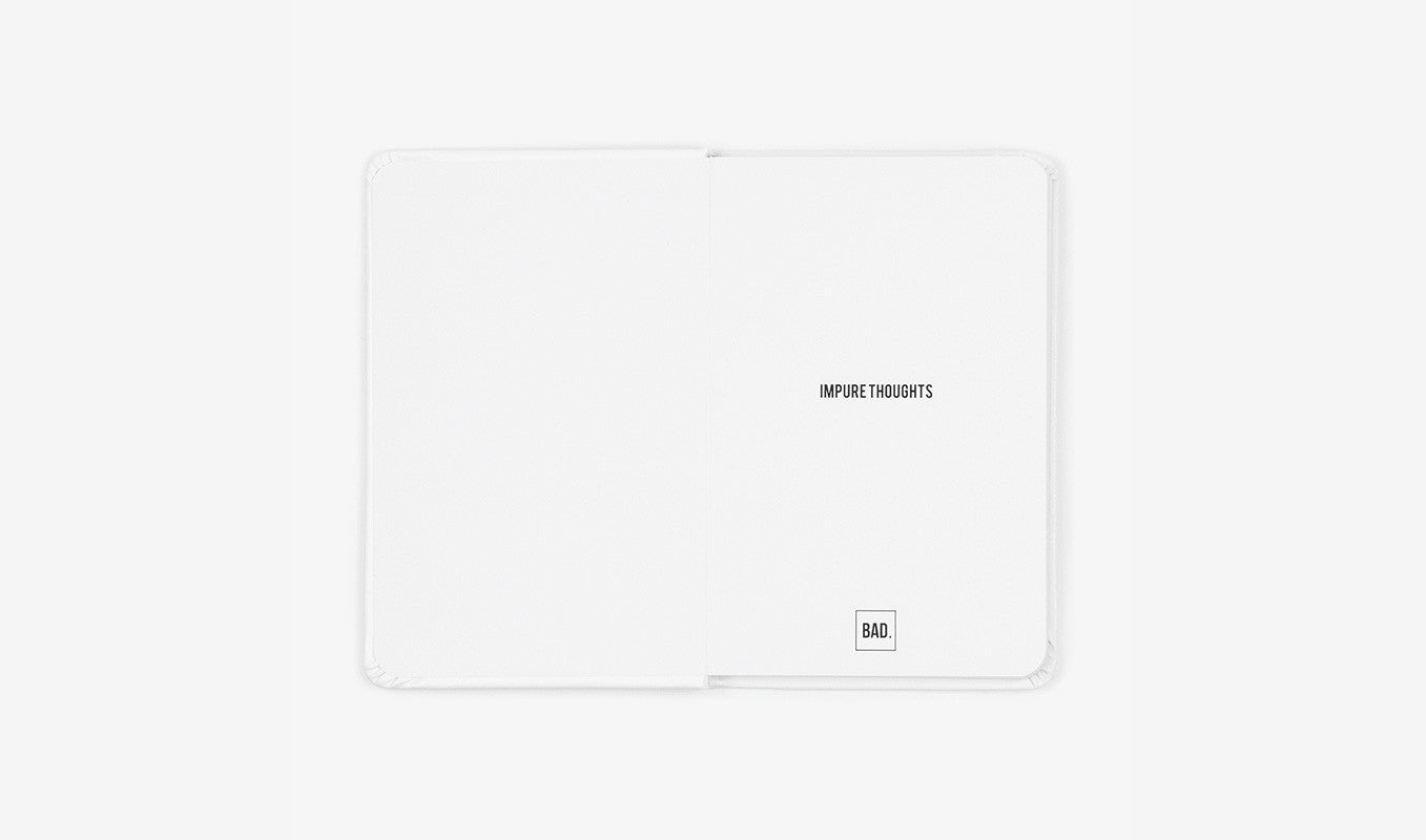 White Classic Leather Notebook