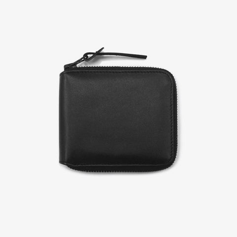 Black Leather Full Zip Wallet - Bad Goods