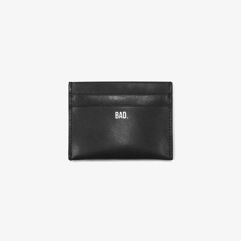 Black Leather Card Wallet - Bad Goods