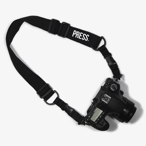 Black Press Camera Strap - Bad Goods