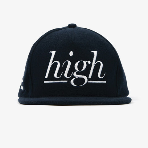 Navy Wool High Snapback - Bad Goods