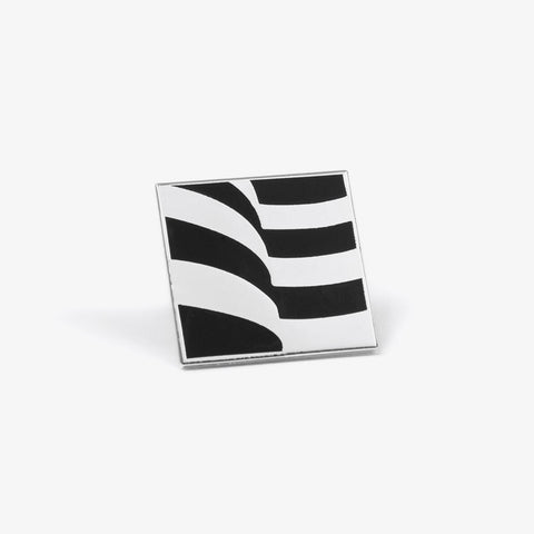 Polished Silver Flag Pin - Bad Goods
