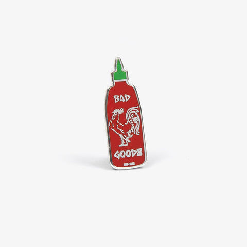 Red & green Hot Sauce Pin - Bad Goods