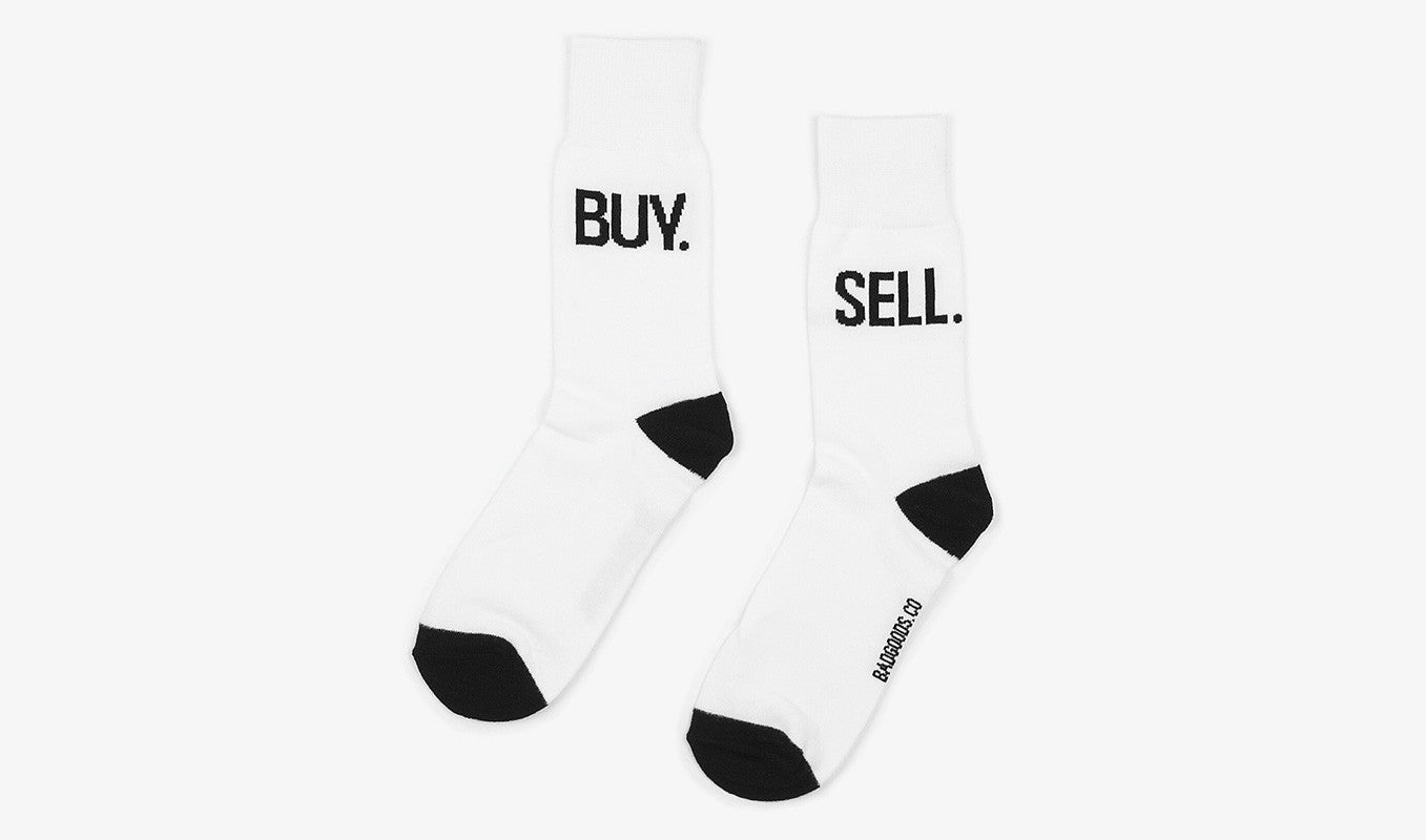 White Business Socks