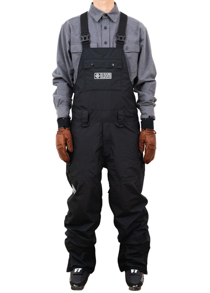 bloom outerwear mens bib ski pant black
