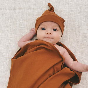 Cinnamon Stretch Wrap & Beanie Set
