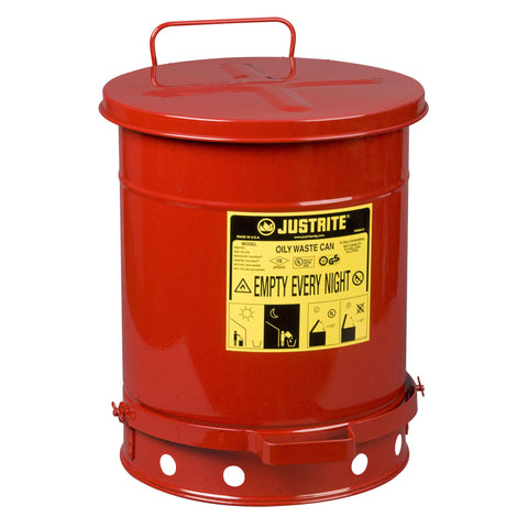 34ltr Foot Operated Oily Waste Can