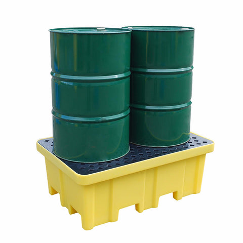 Four Way Entry 2 Drum Spill Pallet