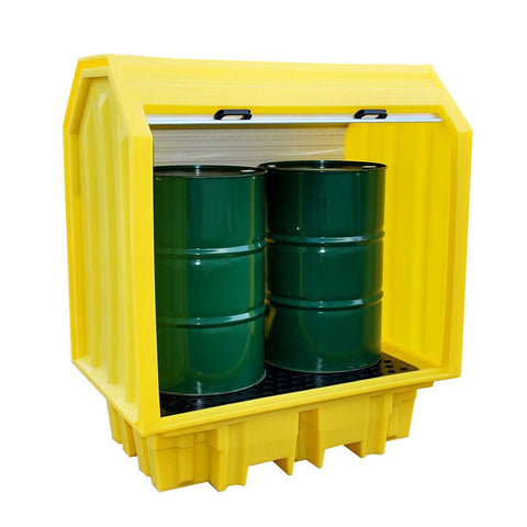 2 Drum Spill Pallet - Hard covered