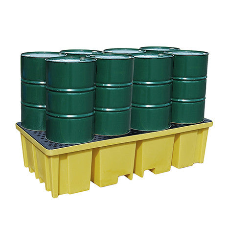 8 Drum 4 Way Access Spill Pallet - MDP8FW