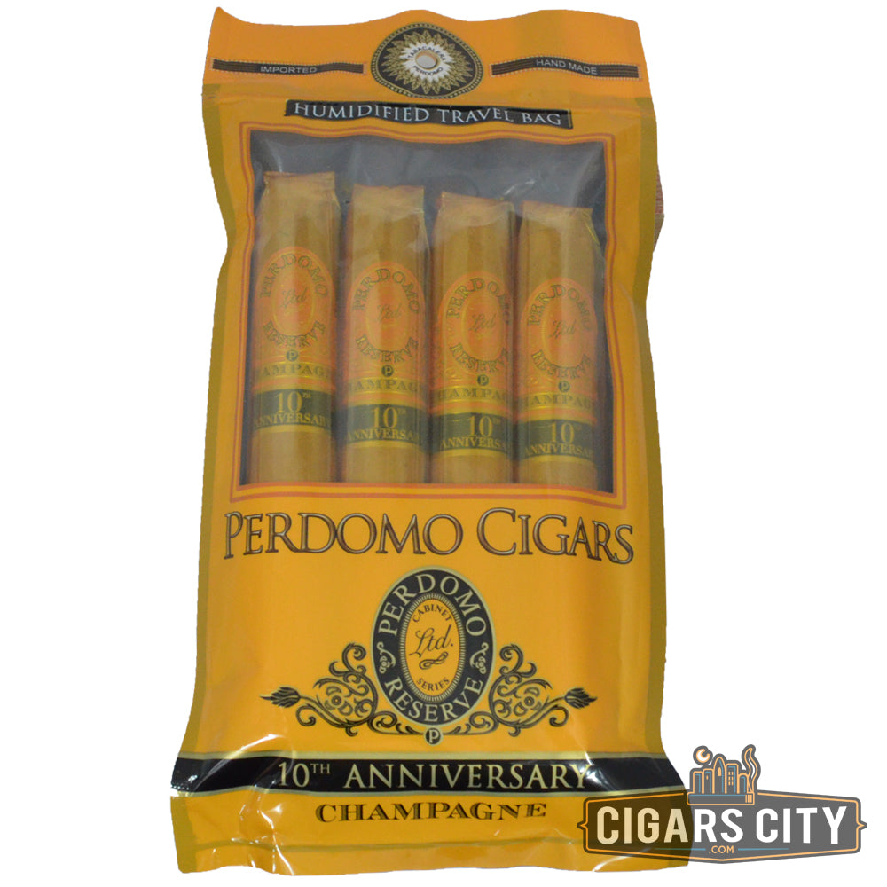 Perdomo 10th Anniversary Champagne Humidified Pack - CigarsCity.com