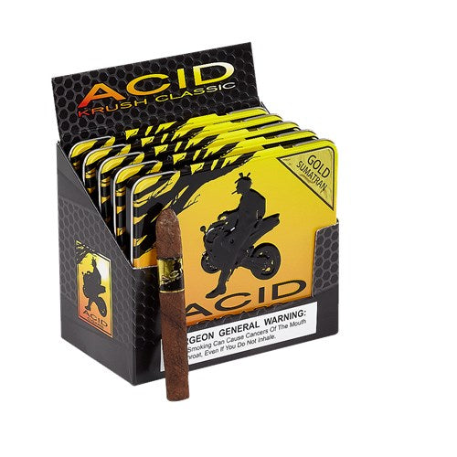 Acid Krush Gold Sumatra Cigarillos by Drew Estate - CigarsCity.com