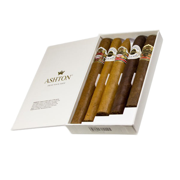 Ashton Variety Sampler Pack - Box of 5 Cigars - CigarsCity.com