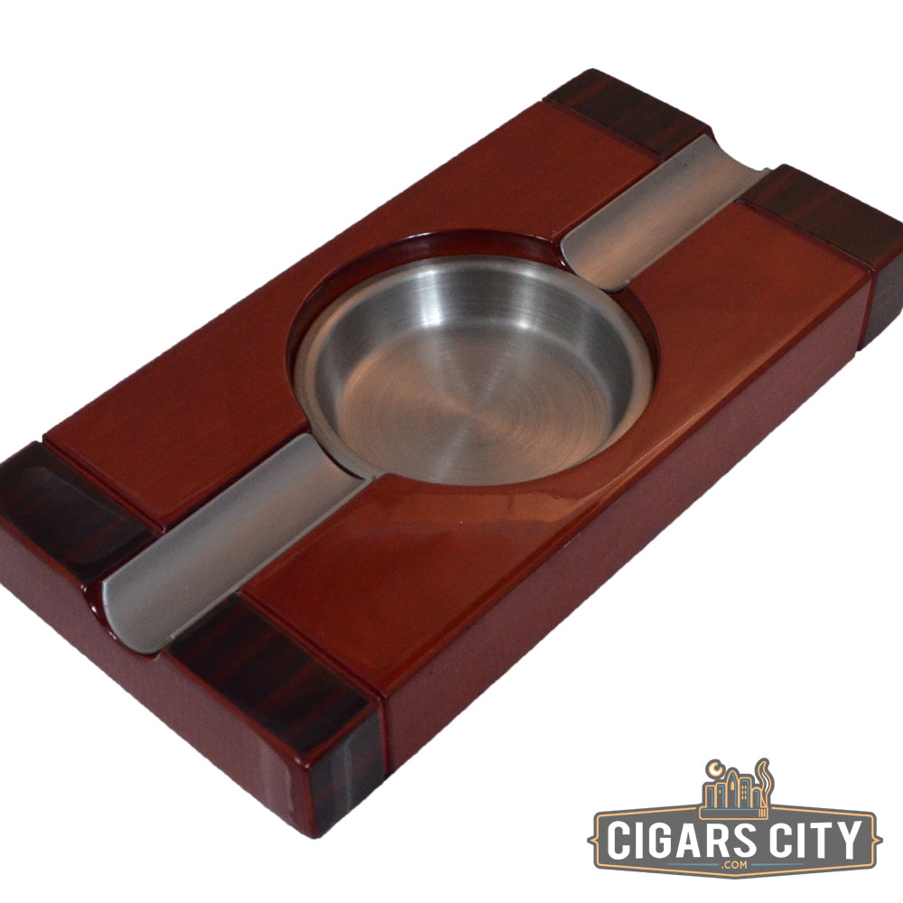 Cherry Two-Tone Cigar Ashtray - CigarsCity.com