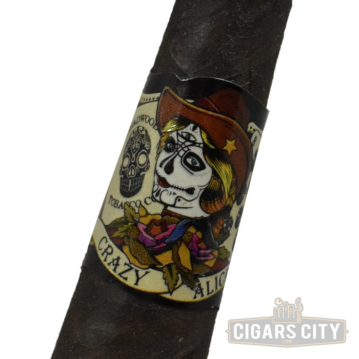 "Drew Estate Deadwood Pyramid ""Crazy Alice"" (4.5"" x 52) - CigarsCity.com"