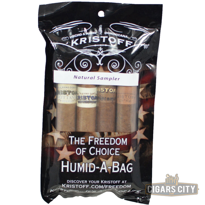 Kristoff Fresh Pack Natural Sampler - CigarsCity.com