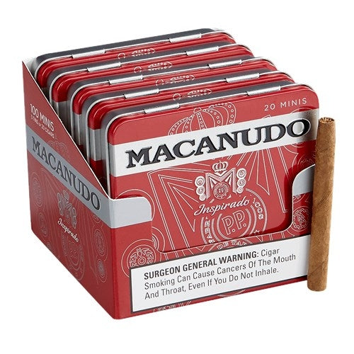 Macanudo Inspirado Red Mini (Cigarillo) Tin of 20 - CigarsCity.com