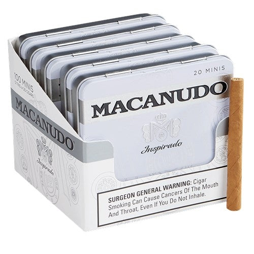 Macanudo Inspirado White Mini (Cigarillo) Tin of 20 - CigarsCity.com