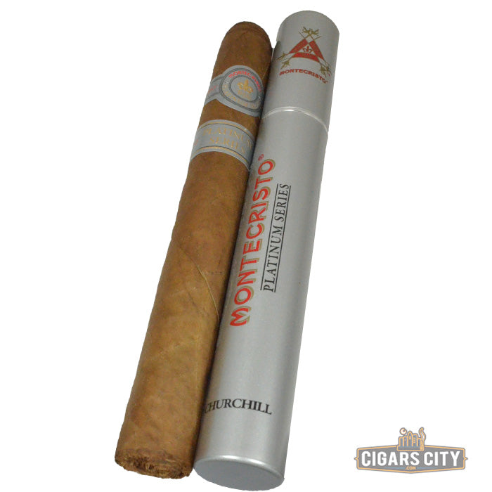 Montecristo Platinum Churchill Cigars - Tubos - Box of 15 - CigarsCity.com