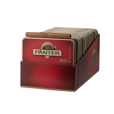 "PANTER Red Cigarillo (3.5""x20) - Tin of 20/Pack of 200 - CigarsCity.com"