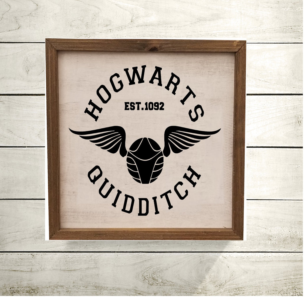 Hogwarts Quidditch - Sign