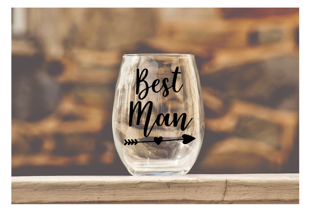 Wedding Party Wine Glasses - Entire Set