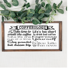 Load image into Gallery viewer, Coffeeology Sign