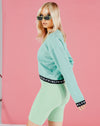 BLFD MERTAL WOMEN'S CROPPED SWEATSHIRT WITH BRANDED TAPE - MINT