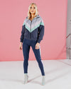BLFD PAXOS WOMEN'S COLOUR BLOCKED HOODIE - NAVY