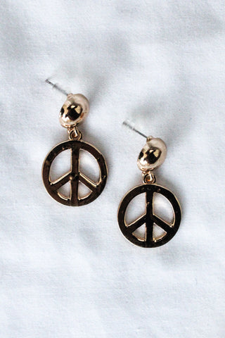 Peace Earrings GOLD