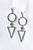 Circle Triangle Earrings SILVER