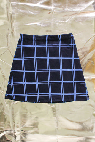 Puff Check Skirt